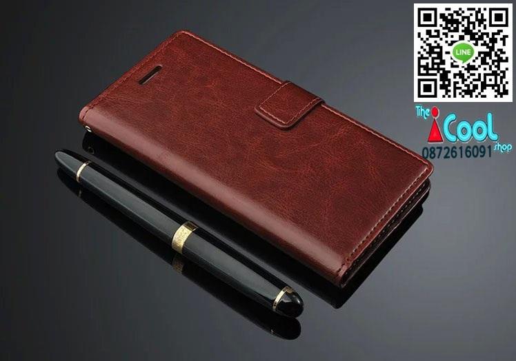 เคสฝาพับ Oppo R7s- Leather Diary Case [Pre-Order]