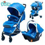[สีฟ้า] Fico รถเข็นเด็ก+กระเช้าคาร์ซีท รุ่น California 4in1 [แรกเกิด-3ปี]