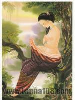 ภาพศิลปะล้านนา ชื่อภาพ Lanna People รหัสสินค้า A - 66