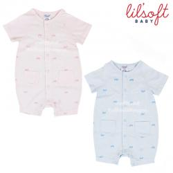 Lilsogt baby ชุดบอดี้สูทขาสั้น 100%Cotton-Anti bacterial sanitized