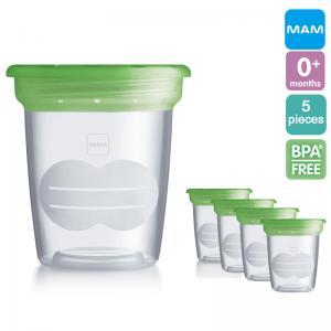 MAM ถ้วยเก็บน้ำนม และอาหาร BPA free (5 Cups)
