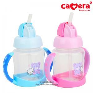 ถ้วยหัดดื่มแบบหลอดดูดลายHello Kitty Camera Training Cup 150oz.