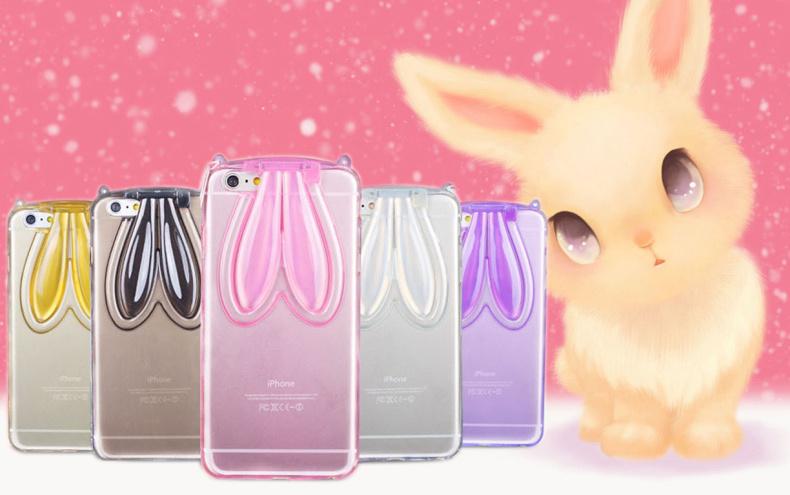เคส OPPO Mirror5, a51t - เคสซิลิโคนกระต่าย หูตั้งได้[Pre-Order]