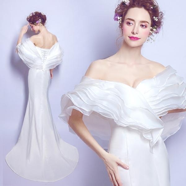 wm5073 ขาย ชุดแต่งงานเจ้าหญิงแบบเรียบหรู คลาสิค ราคาถูกกว่าเช่า