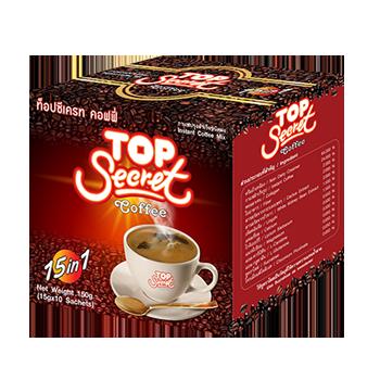 กาแฟเพื่อสุขภาพ Top-Secret 1 กล่อง มี 10 ซอง