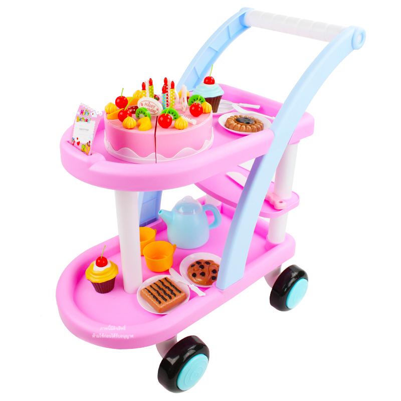 ชุดรถเข็นพร้อมเค้กวันเกิด DIY Cake Play Set