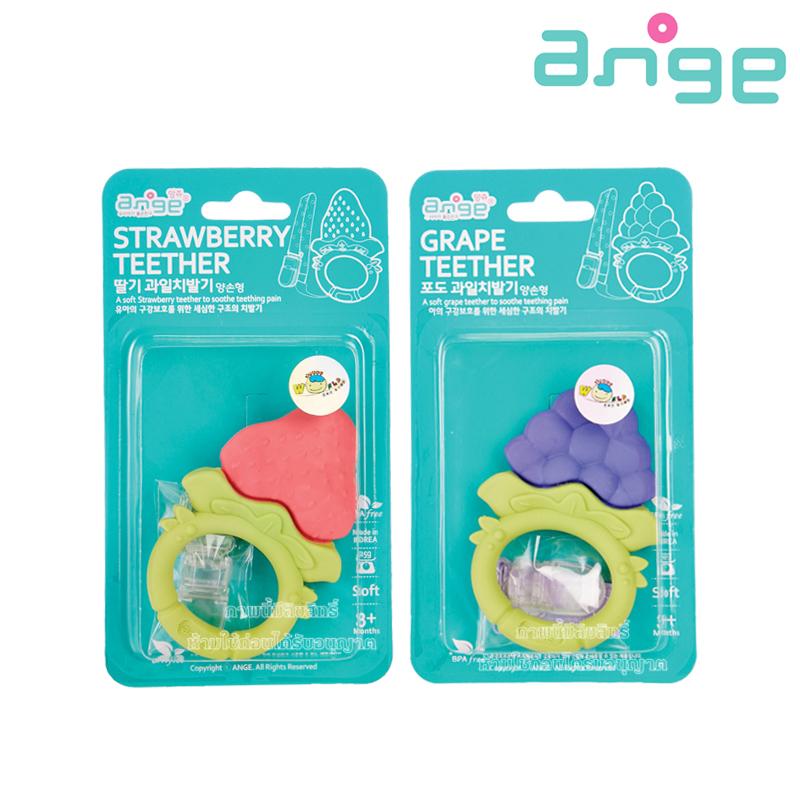 Ange ยางกัดรุ่นวงกลม พร้อมคลิปกันหล่น Ange Ring Teether