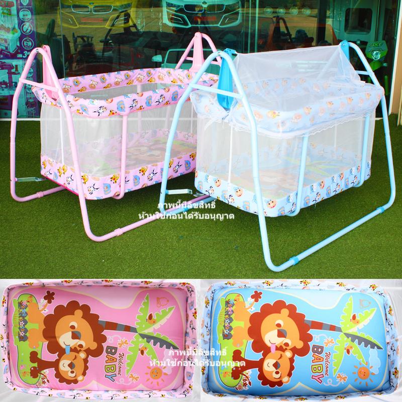 เปลไกวเด็ก Baby Cradle รุ่น C023 ลายหัวสัตว์