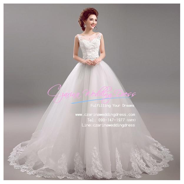 wm5062 ขายชุดแต่งงานราคาถูก แนวเจ้าหญิง ที่สวยที่สุดในโลก