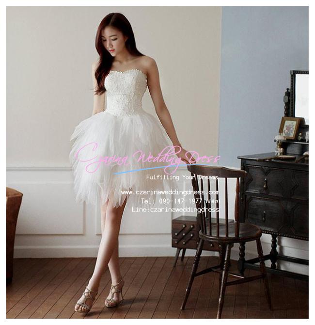 f-0271 ชุดหมั้น ชุด after party สีขาว สำหรับเจ้าสาวสมัยใหม่ที่มีความมั่นใจในตัวเอง
