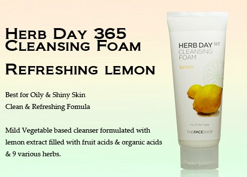 The Face Shop Herb Day 365 Cleansing Foam Lemon 170 ml