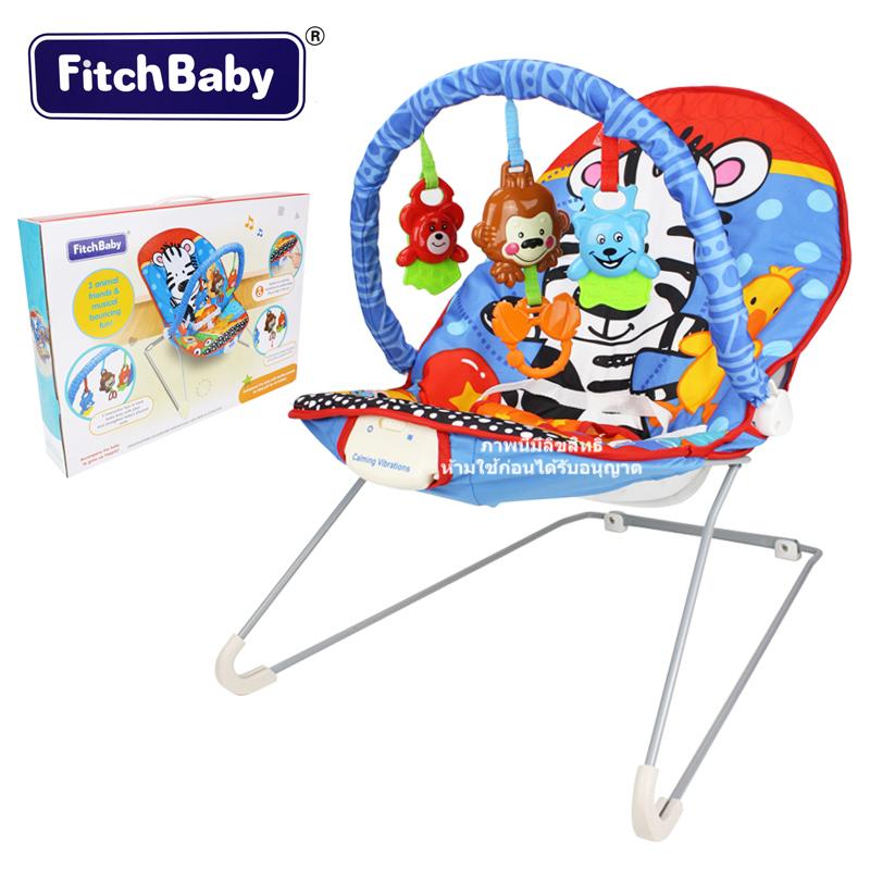เปลเด็กระบบสั่นลายม้าลาย Fitch Baby Musical Bouncing Fun