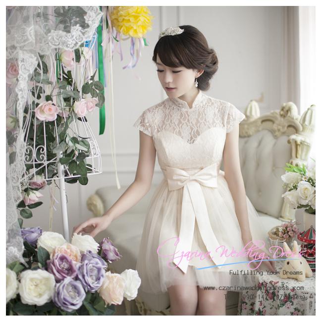 f-0207 ชุดหมั้น สีแชมเปญ เสื้อเป็นลูกไม้สวยหวาน เรียบหรู น่ารักมากค่ะ
