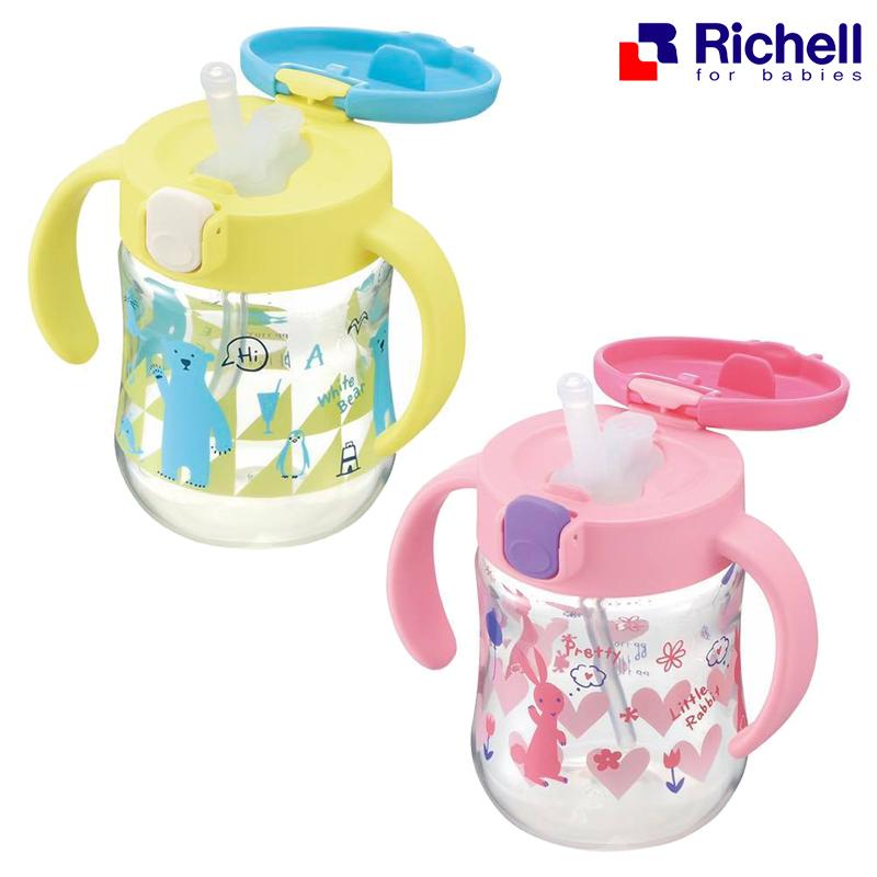 [Step3] ถ้วยหลอดดูด Richell T.L.I Straw Bottle Mug 200 ml.