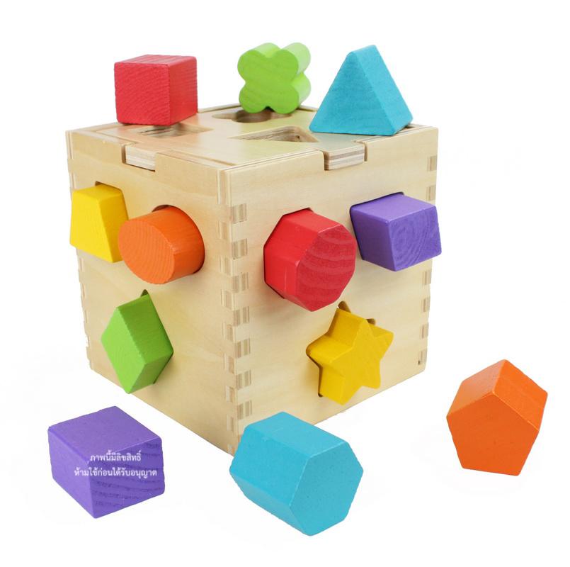บล็อคหยอดไม้ทรงสี่เหลี่ยม Shape Sorting Cube