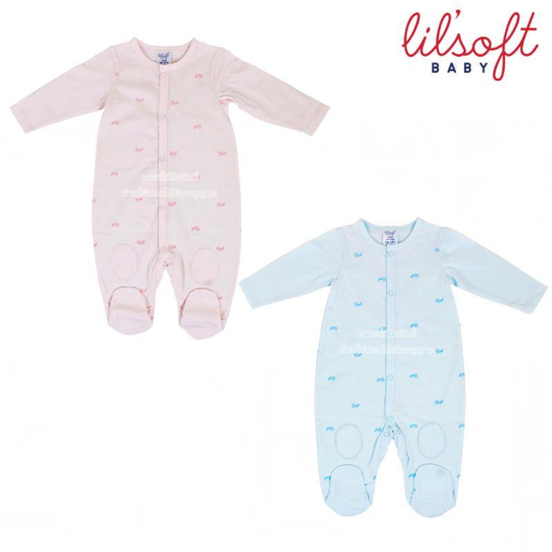 Lilsoft baby ชุดบอดี้สูทขายาวมีถุงเท้า 100%Cotton-Anti bacterial sanitized