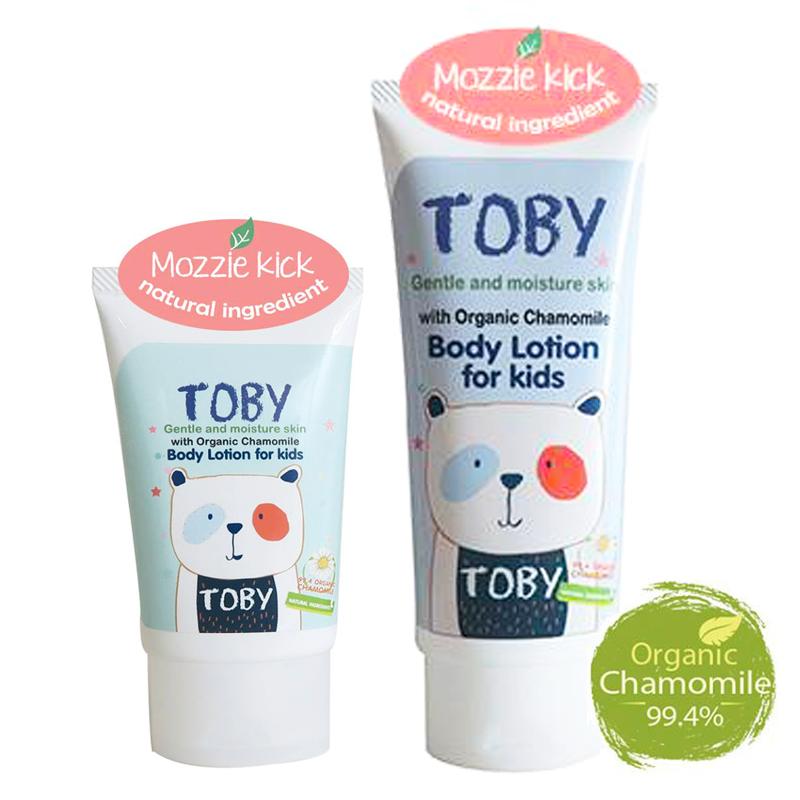 Toby โลชั่นบำรุงผิว สูตรกันยุง mozzie body lotion
