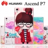 Huawei Ascend P7 - เคสแข็ง ลายการ์ตูน กรอบใส Case [Pre-Order]