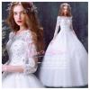 wm5070 ขาย ชุดแต่งงานเจ้าหญิง แขนยาว สวย หวาน หรู ที่สุดในโลก ราคาถูกกว่าเช่า