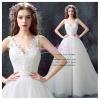 wm5097 ขาย ชุดแต่งงาน คอวี สวยสง่าแบบเจ้าหญิง ดูดีที่สุดในโลก