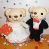 คู่หมีแต่งงาน 6 นิ้ว