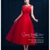 Z-0093 ชุดไปงานแต่งงานน่ารัก แนววินเทจหวานๆ สวย เก๋น่ารัก ราคาถูก สีแดง ลูกไม้