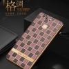 เคสมือถือ Huawei Ascend P9 Plus - เคสนิ่มMoby รุ่นลายตารางขอบทอง [Pre-Order]