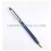 ปากกาครอสเทียมประดับคริสตัลสีน้ำเงิน ( Crystal Cross Pen )
