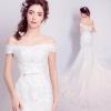wm5056 ชุดแต่งงานแนวเจ้าหญิง ชุดเจ้าสาวแขนสั้น สวยหวานหรู ราคาถูกกว่าเช่า