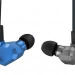KZ ZS5 หูฟัง Hybrid 4 ไดร์เวอร์ 2DD+2BA Gray