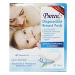[กล่อง30ชิ้น] Pureen แผ่นซับน้ำนม Disposable Breast Pads