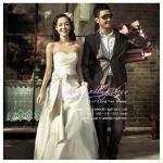 wm40010 ขาย ชุดแต่งงาน สไตล์เกาหลี ใส่แล้วสวยหวาน หรู ที่สุดในโลก ราคาถูก