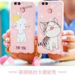 เคสมือถือ Huawei huawei nova 2Plus-เคสซิลิโคนสกรีีนลายการ์ตูน+พู่ [Pre-Order]