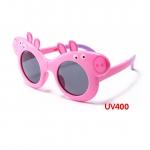 แว่นตาเด็กกันแดดซิลิโคนพับได้ Peppa Pig