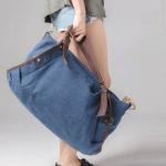 กระเป๋าสะพายแฟชั่นใบใหญ่ สีน้ำเงินกรมท่า