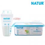 [120ถุง] [8oz] Natur ถุงเก็บน้ำนมพร้อมกล่องพักถุงเก็บน้ำนม