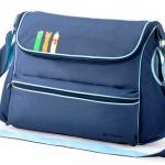 [สีน้ำเงิน] กระเป๋าสัมภาระคุณแม่ สัตว์3เกลอ Baby Kingdom ขนาดใหญ่