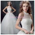 wm5063 ขายชุดแต่งงาน แนวเจ้าหญิง แบบคล้องคอ ที่สวยที่สุดในโลก ราคาถูกกว่าเช่า