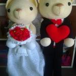 คู่หมีแต่งงานขนาด 30 นิ้ว