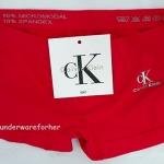 กางเกงในผู้หญิง Calvin Klein สีแดงแบบเต็มตัวมี logo Calvin Klein ด้านหน้า