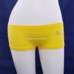 กางเกงในผู้หญิง Calvin Klein สีเหลืองแบบเต็มตัว มี logo Calvin Klein ที่ด้านหน้าข้างเอว