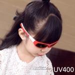 แว่นตาเด็กกันแดดซิลิโคนมีสายคล้อง