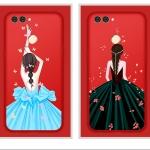 ฟิล์มกระจก Huawei huawei nova 2-ฟิล์มกระจกลายเจ้าหญิง+เคสซิลิโคนสกรีน [Pre-Order]