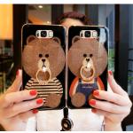 เคสมือถือ Samsung S8plus -เคสซิลิโคนหมี+ห่วงนิ้ว [Pre-Order]