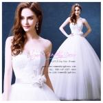 wm5081 ขาย ชุดแต่งงานเจ้าหญิง เกาะอก สวย หวาน หรู น่ารัก ที่สุดในโลก ราคาถูกกว่าเช่า