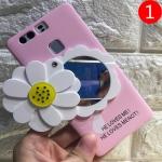 เคสมือถือ Huawei Ascend P9 Plus- เคสแข็งประดับดอกไม้ หมุนเป็นกระจก [Pre-Order]