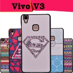 เคสมือถือ Vivo V3- เคสแข็งพิมพ์ลายการ์ตูน ขอบดำ(พรีออเดอร์)