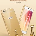 เคสมือถือ Vivo Y55/Y55s - เคสขอบโลหะฝากระจกเงา (Pre-Order)