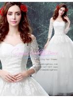 wm5103 ขาย ชุดแต่งงาน เจ้าหญิงปาดไหล่ แขนยาว ใส่ถ่ายพรีเวดดิ้ง สวยหรู ดูดีที่สุดในโลก ราคาถูกกว่าเช่า