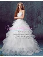 wm5101 ขาย ชุดแต่งงาน เจ้าหญิงเกาะอก กระโปรงระบาย ใส่ถ่ายพรีเวดดิ้ง สวยหรู ดูดีที่สุดในโลก ราคาถูกกว่าเช่า